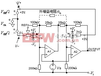 单电源仪表放大器电路图图片