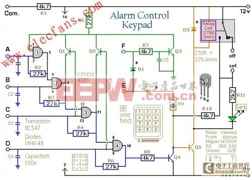 如何建立一个4位报警器控制键盘