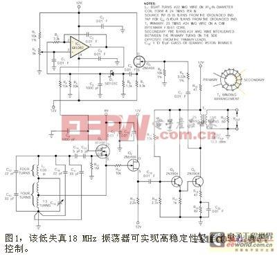 自动电平控制正弦波18MHz稳定振荡器的设计