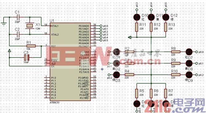 单片机c语言程序设计:led
