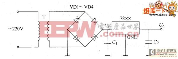 7800系列三端固定正电压稳压器典型应用电路