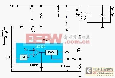 采用pwm调光技术的le7820驱动电路