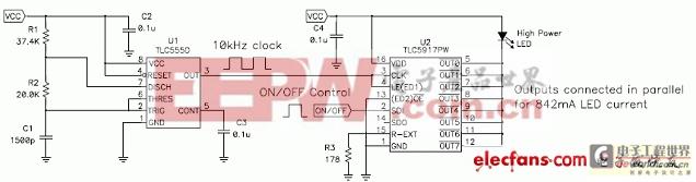 555定时器实现LED驱动器控制