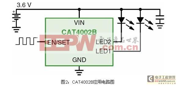 适合低压背光或闪光应用的LED驱动器方案