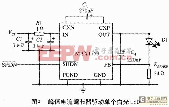 峰值电流调节型控制LED