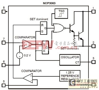 图1,NCP3063框图。