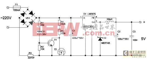 工程师讲解:5V电源采用LM2995的转换器电路