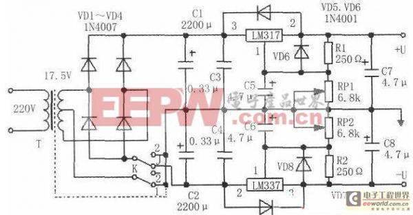 工程师推荐一款两用可变直流稳压电源电路设计