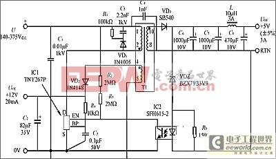 使用TinySwitch II实现开关电源优化的电路设计
