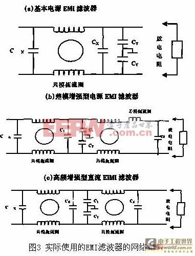 直流电源emi滤波器的网络结构及设计原则