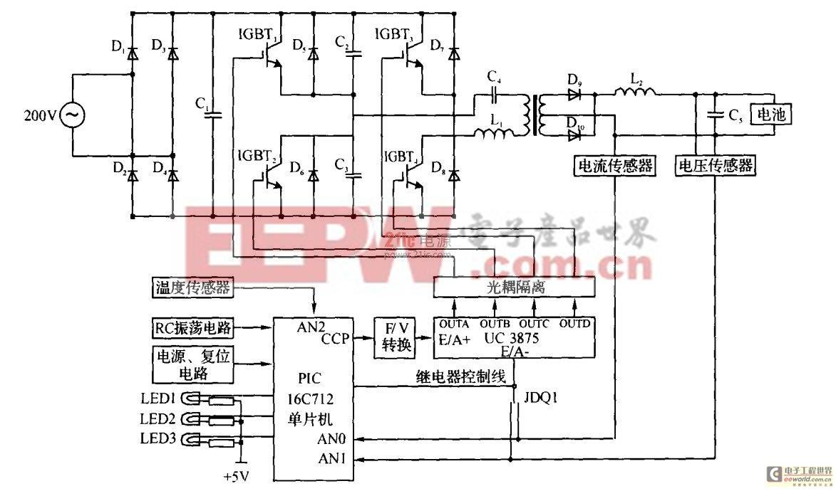 电动车用48V (20A·h)蓄电池充电器的研究