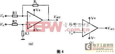 以看出,比较器电路就是一个运算放大器电路处于开环状态的差分放图片