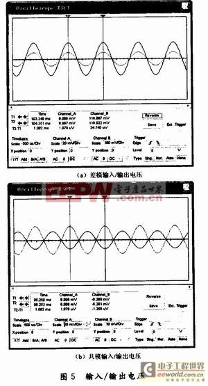 通过示波器观测差模