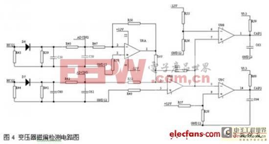 变压器磁偏检测电路图