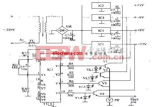两种基本的数控直流稳压电源电路图片