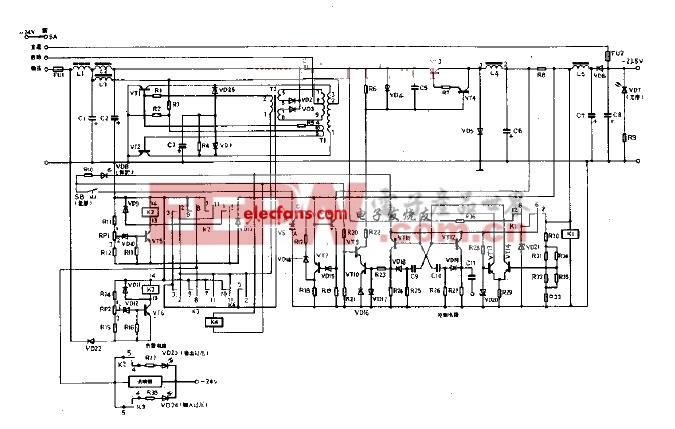 基于自激换流器的-24V稳压电源电路