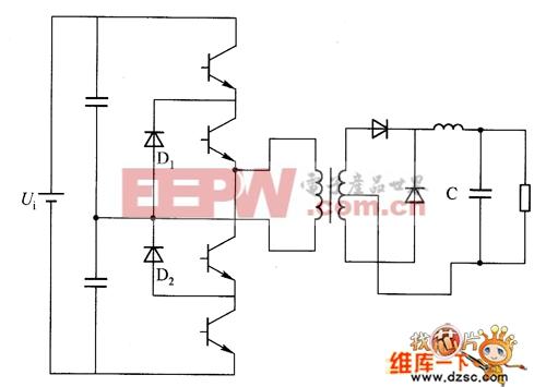 半桥式三电平转换器电路