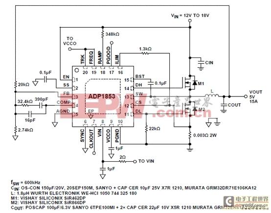 图3.adp1853两相应用电路图