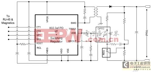 高压元器件整合简化PoE用电装置设计[