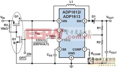 ADP1612/ADP1613典型应用电路