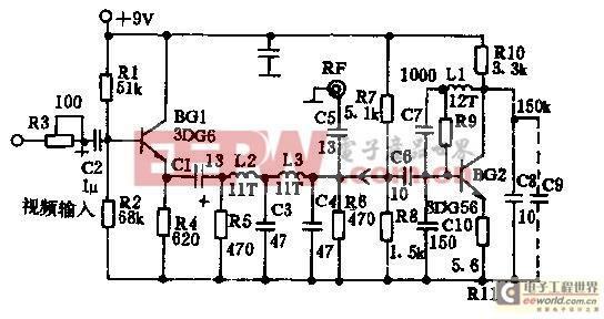 简易视频信号射频调制器电路设计