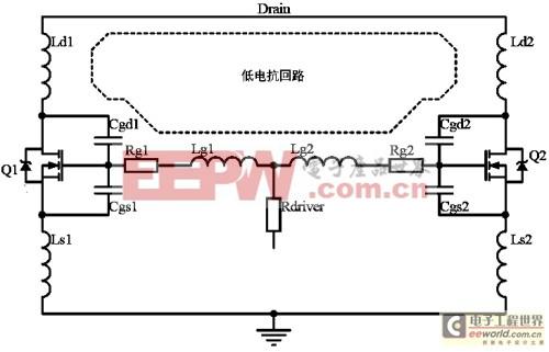 图13:直接并联的驱动干扰模型