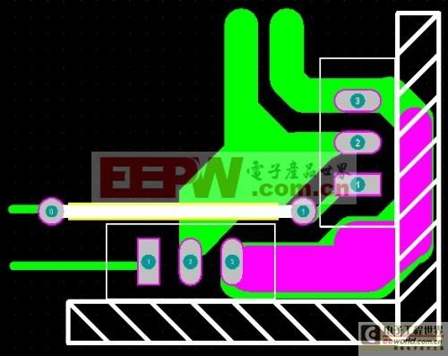 图21:并联MOS散热片直角布局,单面板