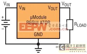 为产生正输出电压而配置的降压型μModule稳压器