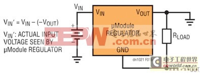 为产生负输出电压而配置的降压型μModule稳压器