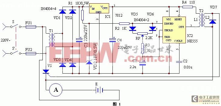 可控硅控制的无变压器充电器设计