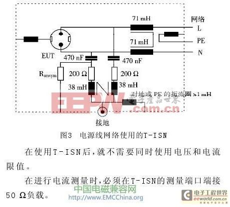电源线网络使用的T-ISN