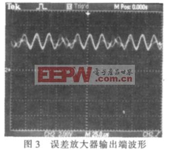 误差放大器输出端波形