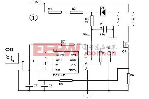 ap3842cp应用电路图-如何解决3842电路的保护障碍  1、在批量生产时,由于元器件的差异,