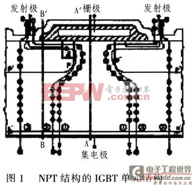 N沟道增强型垂直式IGBT单元结构