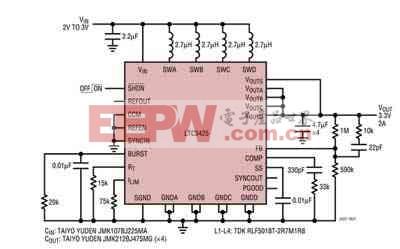 POL DC/DC转换器设计需要高效率和低IQ