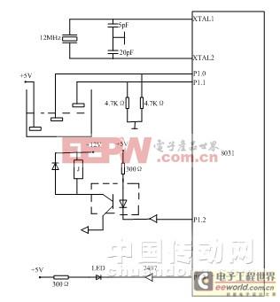 水塔水位监测电路设计原理图
