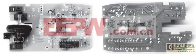 双飞燕光电鼠标的印制板实物