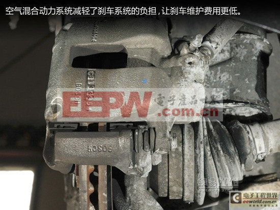 空气推着汽车跑 雪铁龙空气混合动力系统高清图片