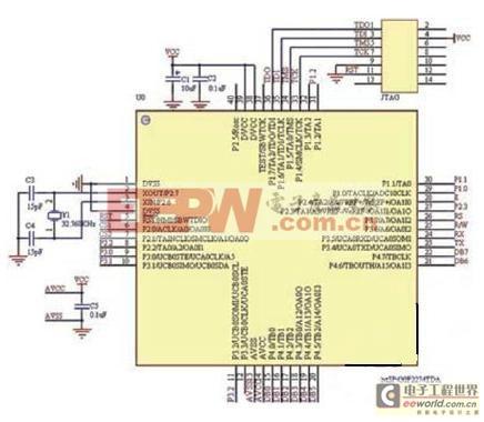 图2:倒车雷达系统主控电路图.高清图片