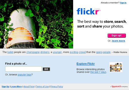 Flickr主页