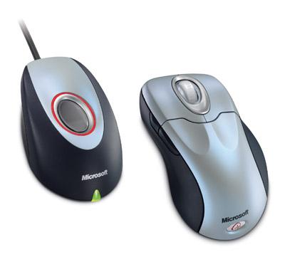 带有指纹读取器的Wireless IntelliMouse Explorer是款生物识别鼠标。