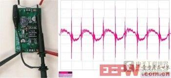 图1:错误的纹波测量得到的较差的测量结果。