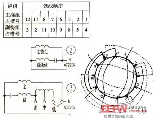 单相发电机绕组接线图