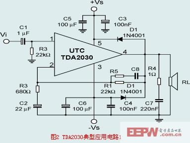 TDA2030音频功率放大电路