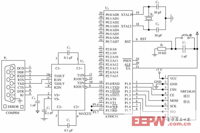 5 与pc机通讯电路设计 如果单片机通信电路与单片机通信电路通信,则两