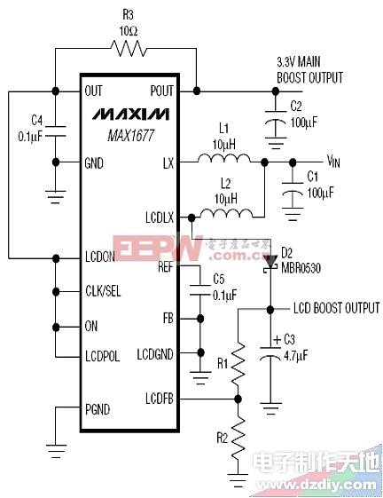max1677升压电路