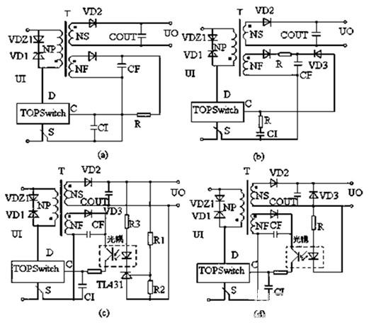 4类小功率通用的电压反馈电路图