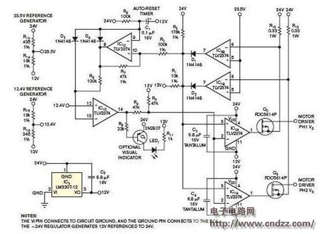 利用负变压器方式的逆变稳压器电路图