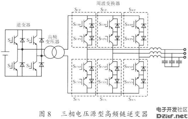 三相电压源型高频链逆变器电路