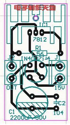 "hspace=0 src=""http://editerupload.eepw.com.cn/fetch/20160812/4204_5_0.jpg"" width=408 border=1></P><DIV>一般电池充电均采用恒流方式,这样只需控制充电时间即可完成对电池的充电。从该电池外观上看,它是镍氢电池,容量为1450毫安时。其标准充电方法是:用电池额定容量的1/10电流即145毫安充电14~16小时。本充电器实测充电电流为170毫安左右,充电时间约为12小时。  制作所需的元件有:变压器一个,功率在10W左右,次级绕组的电压在12~15V之间;7812三端稳压集成电路一个;IN4008二极管4个(或1A/200V整流桥一个),2200UF/50V电解电容和0.1UF无极性电容各一个;56欧姆电阻一只(阻值大小可以根据需要自定);可放4节电池的电池盒一个;电路板一块,导线若干。 制作说明及注意点:选好元件以后按照电路图组装好电路,仔细检查确保焊接无误。三端稳压集成电路须安装散热片。电阻的功率2W以上,最好选择阻燃电阻。在电路板上安装电阻时要在他周围预留一定的空间,因为电阻也有较大的发热量。充电时间计算:应充入的容量是1450/10*14=2030毫安时充电电流为170毫安时的充电时间为2030/170约为12小时根据实际需要,改变电阻的阻值大小即可在一定范围内改变充电电流,也就控制了充电时间的长短。不过建议在一般情况下不要采用大电流充电,以免影响电池的使用寿命。  本充电器给电池充一次电,在笔者的奥林巴斯C-860L上可以拍照200~300张(LCD取景屏常开,偶尔使用闪光灯),使用至今已4个多月,电池工作一直良好。而制作本充电器仅花费十几元,起性价比是极高的,使用效果也非常令人满意。说明:印刷电路板中J1接电源变压器的副边输出,J2接电池组。板中的D为硅整流桥<BR></DIV><P align=center><img onload=""if(this.width>620)this.width=620;"" onclick=""window.open(this.src)"" style=""cursor:pointer""  style=""FILTER: "" height=411 alt="